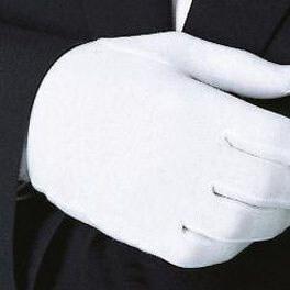 Перчатки для официантов белые мужские