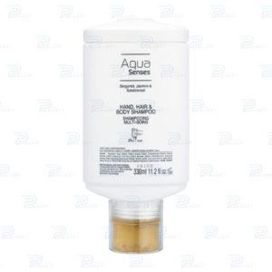 Шампунь для рук, тела и волос Aqua Senses 330 мл press and wash